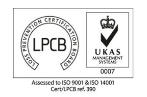 LPCB Assessed to ISO 9001 and ISO 14001 Logo