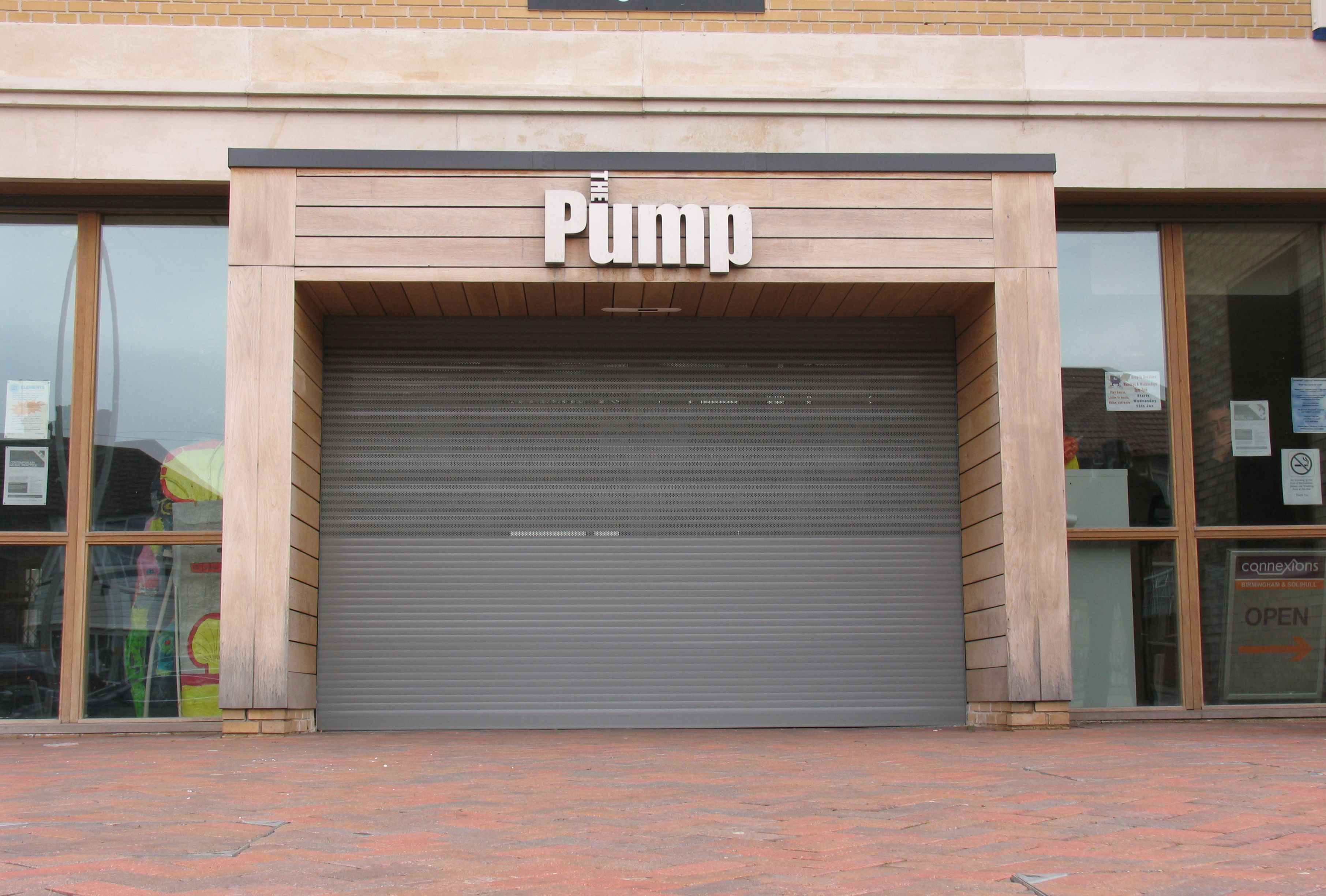 SeceuroShield Lintel Shutter Installation on Modern Retail Premises