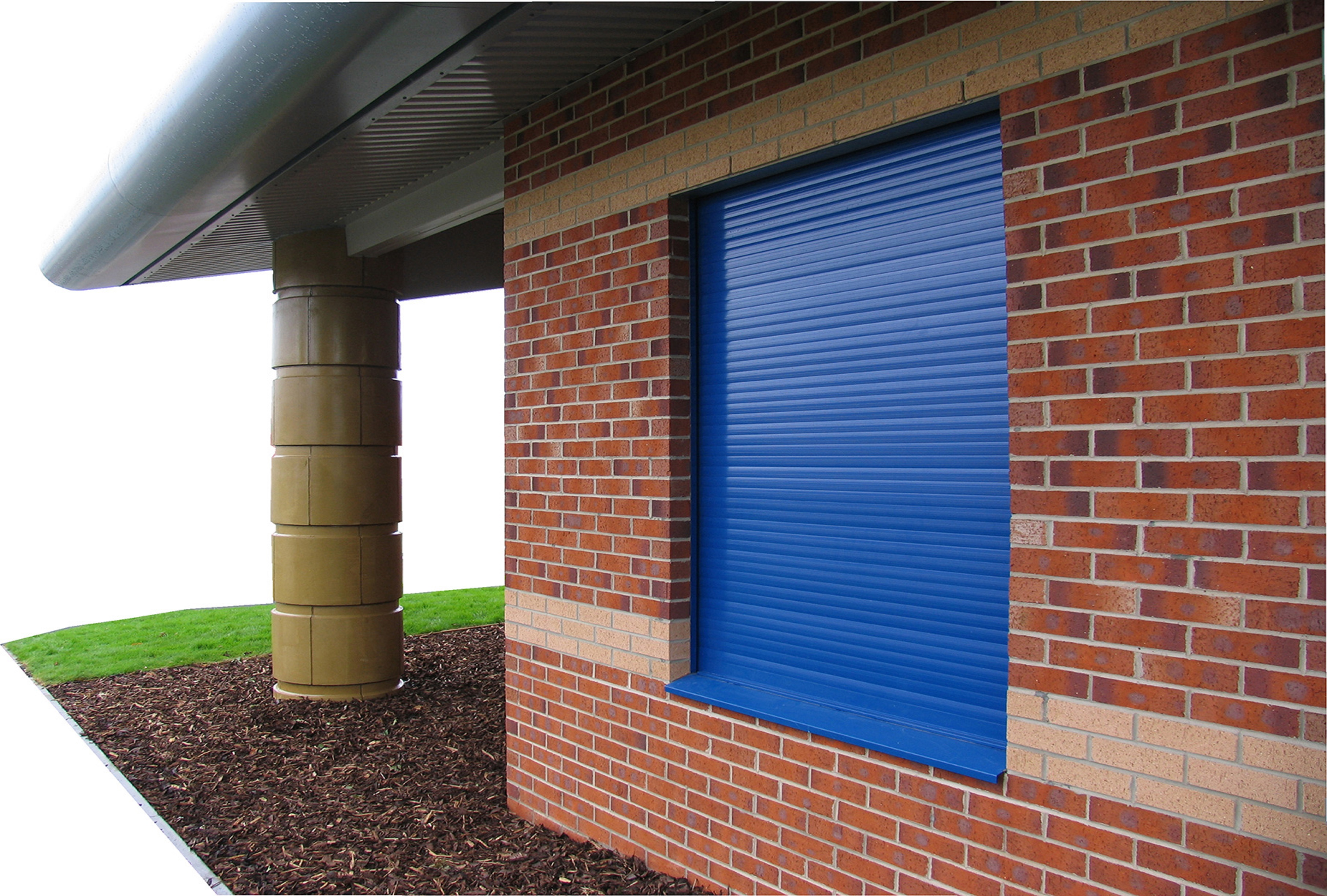 SeceuroShield Lintel Shutter Installed on Community Centre