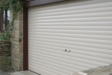 SeceuroGlide Roller Door in white with matching guides