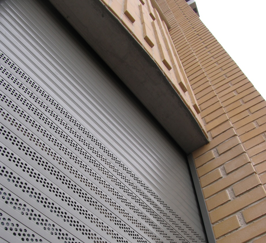 SeceuroShield Lintel Shutter with punched slats